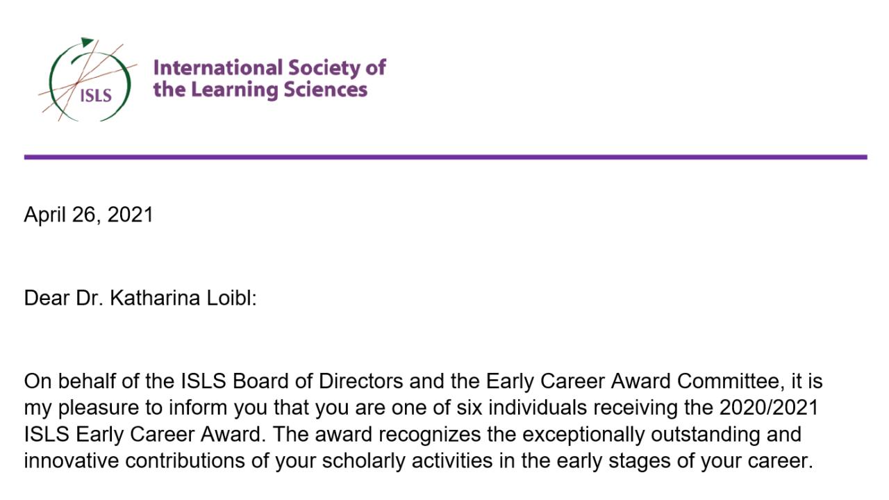 Loibl Isls Award